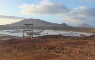 Kap Verde Insel Sal: die Salinen von Pedra Lume
