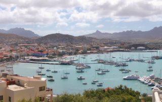 Kap Verde Mindelo, Blick auf die Hafenbucht