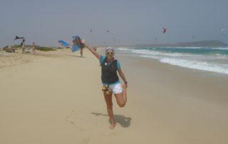 Am Kite Beach auf Sal, Kapverdische Inseln