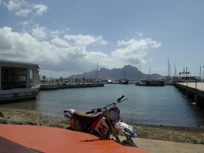 Blick auf den Monte Cara bei Mindelo