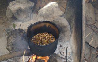 Traditionelle Kaffee-Zubereitung Cap Verden