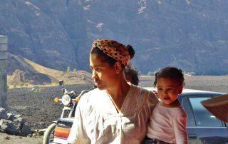 Kap Verde Fogo Frau mit Kind