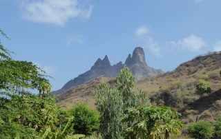 Landschaft Insel Santiago, Kap Verde