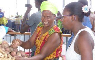 Marktfrauen in Praia, Kpaverdische Inseln