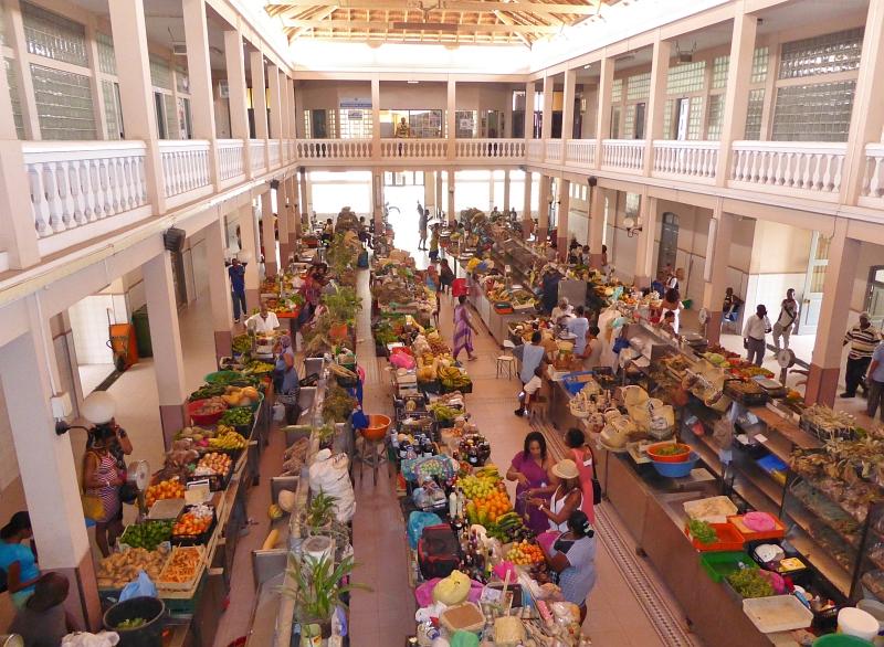 Markthalle in Mindelo auf Sao Vicente