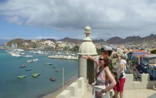 Kapverden Mindelo Blick vom Torre de Belen