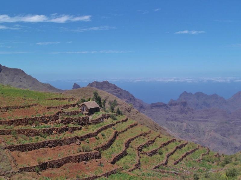 Terrassenfelder auf Santo Antao