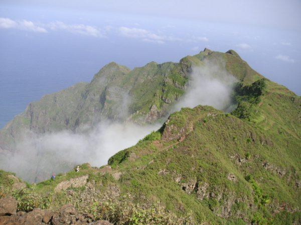 Kapverden Santo Antão - auf dem Kraterrand über den Wolken