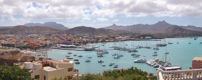 Kap Verde, Mindelo, Blick auf die Hafenbucht