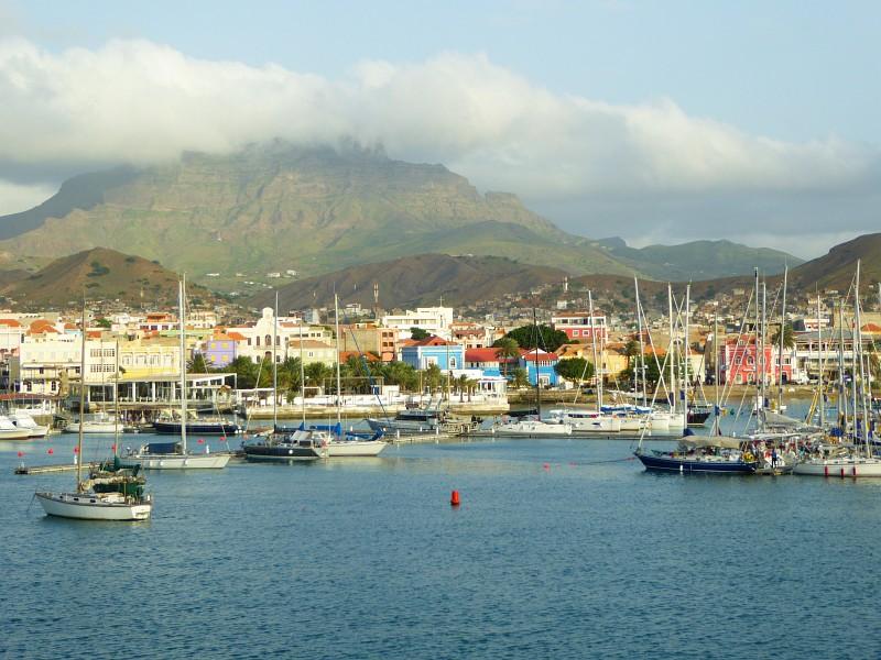 Kapverdische Inseln Mindelo - Blick auf die Hafenbucht