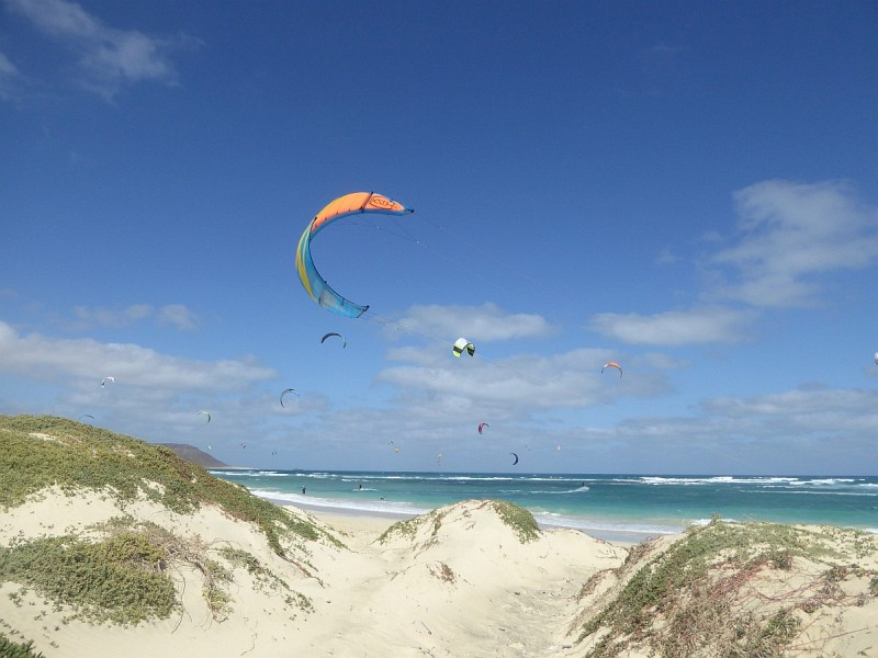 Kite-Surfen auf Sal, Kapverdische Inseln