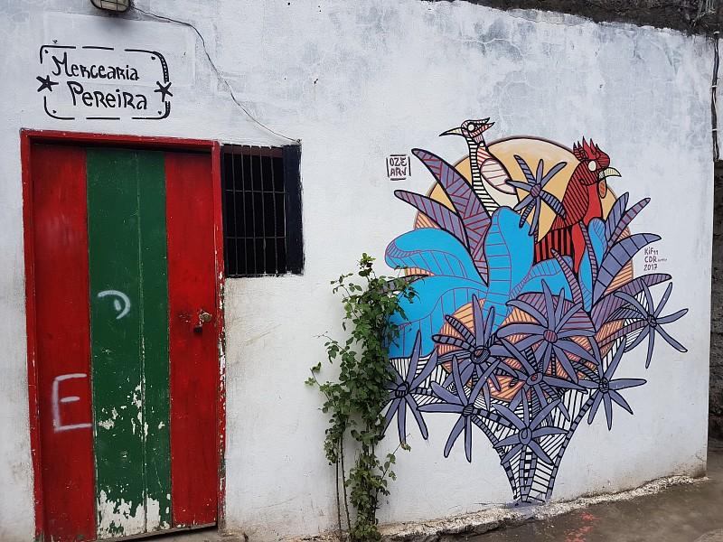Kapverden Santo Antao - Fassadenmalerei