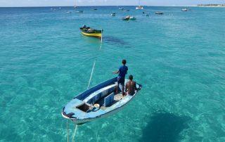 Kapverdischer Insel - Sommer, kristallklares Meer vor der Insel Sal