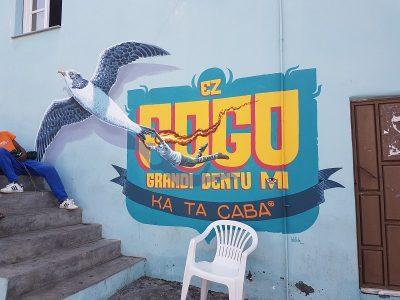 Fassadenbild auf Fogo, Capverden