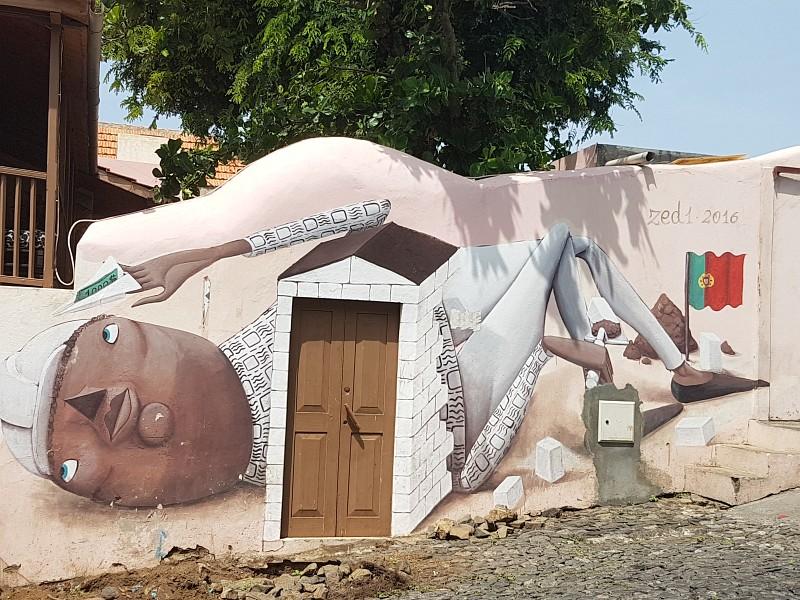 Fassadenbild in Sao Filipe auf Fogo