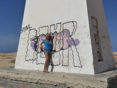 Graffiti am Leuchtturm Insel Sal