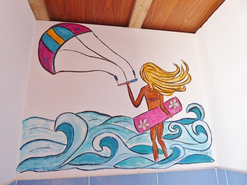 Insel Sal -Wandbild Kite-Surferin