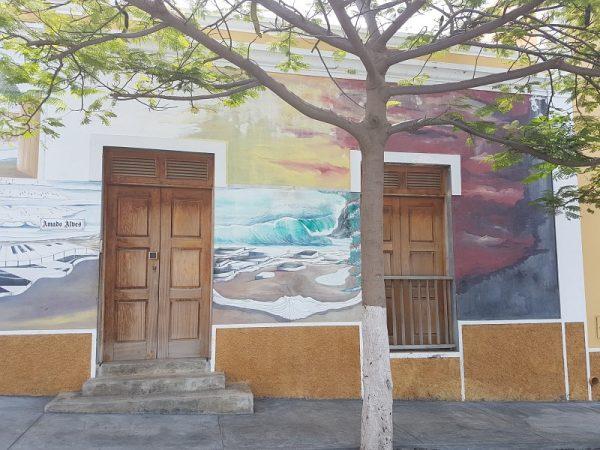 Wandmalerei in Sao Filipe auf der Insel Fogo