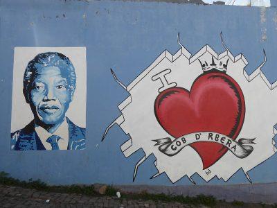 Wandbild Nelson Mandela