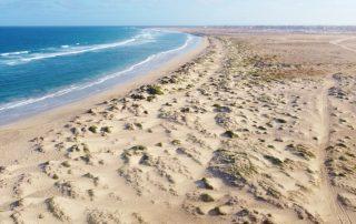 Insel Sal Luftaufnahme Dünenlandschaft Ostküste