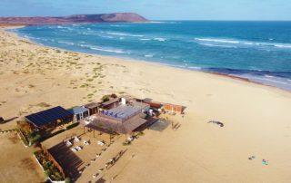 Kite Beach Sal Luftaufnahme